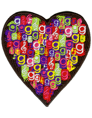 Glee Hearts Patch