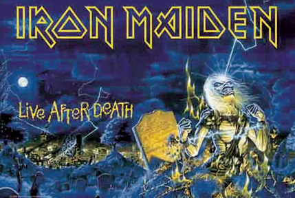 Iron Maiden Live After Death Fabric Poster