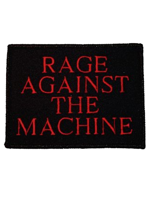 Rage Against the Machine Logo Embroidered Patch